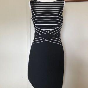 NWT WHBM Black & White Striped Dress